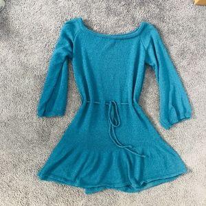 Off the Shoulder Sweater Mini Dress